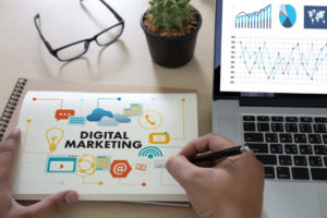 Blocco appunti di Digital Marketing